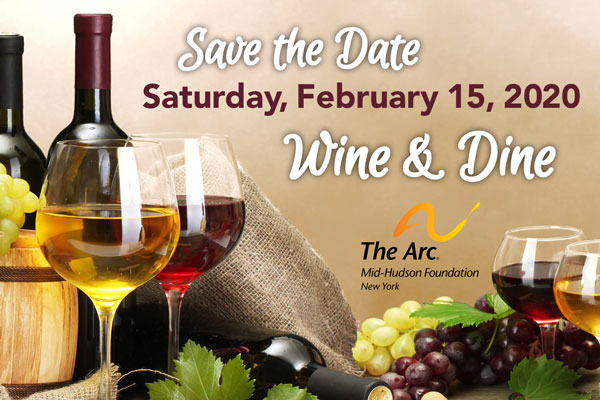 Save the Date February 15, 2020, Wine & Dine